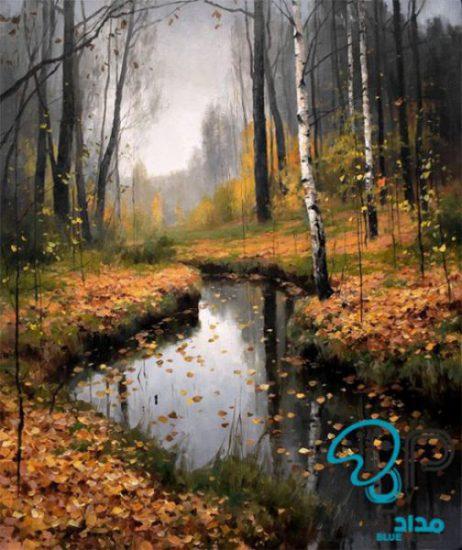 تابلو رنگ روغن پاییز