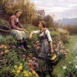 تابلو زن روستایی