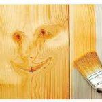 رنگ روغن روی چوب