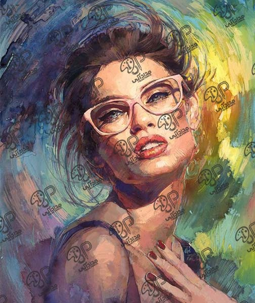 نقاشی رنگ روغن چهره