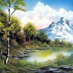 تابلو رنگ روغن دریاچه