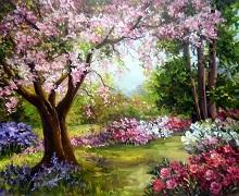تابلو رنگ روغن بهار