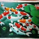 تابلو رنگ روغن ماهی