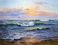 تابلو غروب دریا