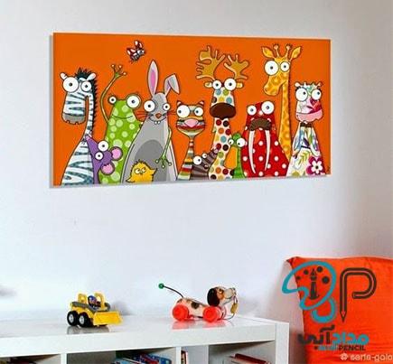 تابلو رنگ روغن اتاق کودک