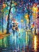 تابلو رنگ روغن رمانتیک
