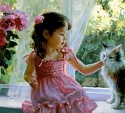 تابلو رنگ روغن دختر