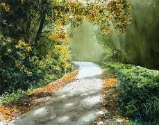 تابلو رنگ روغن جنگل