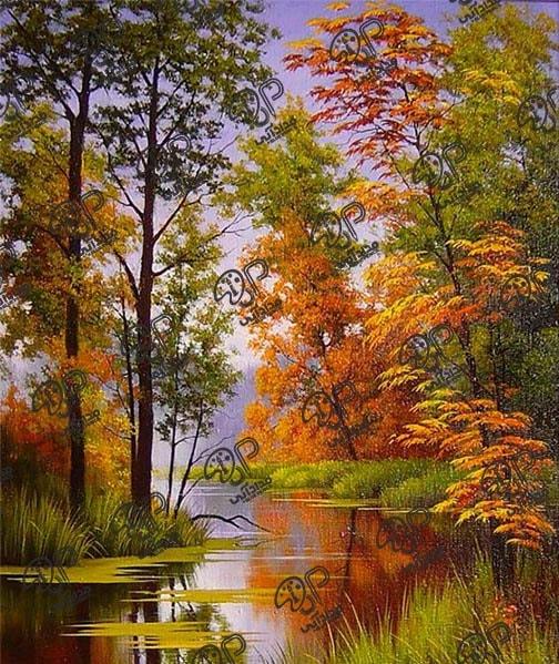 تابلو رنگ روغن طبیعت