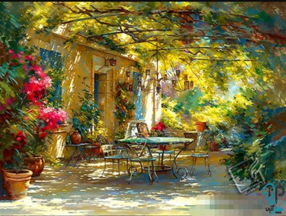 تابلو نقاشی منظره رنگ روغن