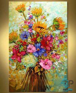 تابلو نقاشی گل برجسته