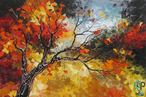 تابلو نقاشی پاییزی