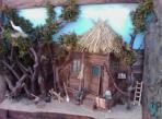 تابلو حجمی خانه روستایی