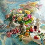 تابلو نقاشی سبد میوه