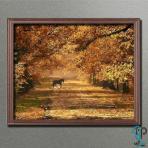 تابلو رنگ روغن پاییزی