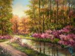تابلو نقاشی بهار